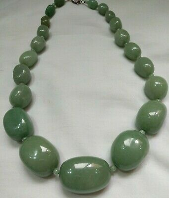 Ancient NECKLACE JADE VIKING Beads OLD Stone Pendant AMULTE museum quality