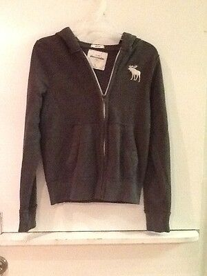 Abercrombie Muscle Kids Gray Zip Up Sweatshirt Boys Size Large