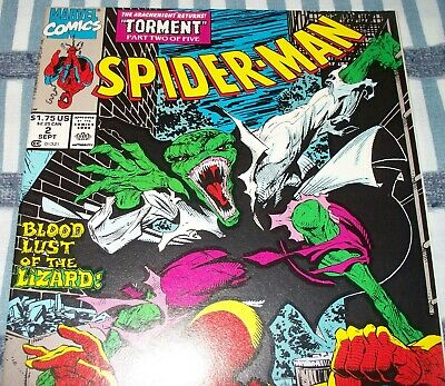 Spider-Man #2 Todd McFarlane Series Torment from Sept 1990 in VF/NM condition DM