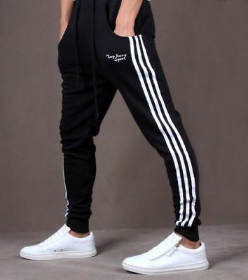 AU Mens Casual Gym Slim Fit Trousers Tracksuit Bottoms Skinny Joggers Track Pant
