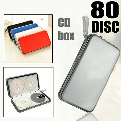 80 Discs Capacity Portable CD DVD Storage Cases Wallet Bags Holder Plastic