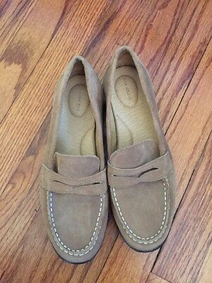 1e77e57c6b1 WOMEN S LANDS END shoes Lilac shoes suede Leather Slip-On Loafers ...