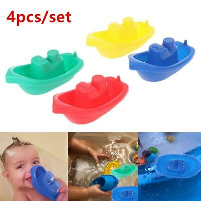 4pcs/set Little Boat Train Bath Toy Bathroom Baby Toys ABS Swimming Pool Gift