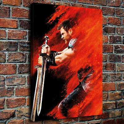 "12""x16""Thor Character HD Canvas prints Painting Home decor Picture Room Wall art"