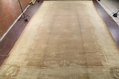 Pre-1900 ANTIQUE Palace Oushak Turkish Hand-Knotted Vegetable Dye BIG Rug 18x29