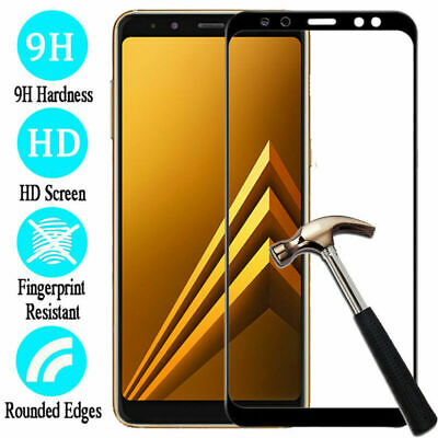 New Full Cover Tempered Glass Screen Protector For Samsung Galaxy A8 PLUS 2018