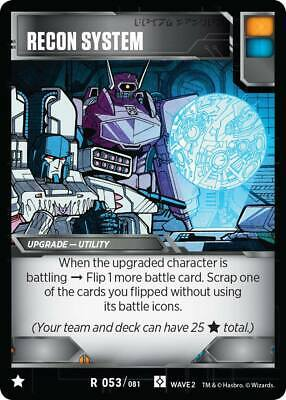 Transformers TCG 1X THE BIGGER THEY ARE.. Rare R 077//081 Wave 1 Battle Card