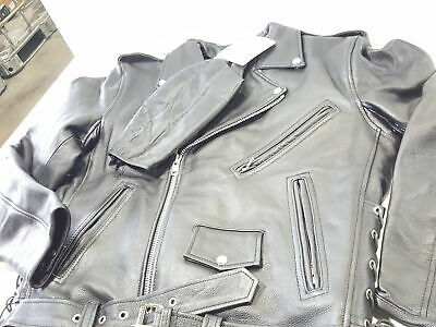 dd08a29eecf For Milwaukee Leather Men s Classic Side Lace Police Style Jacket  (Black