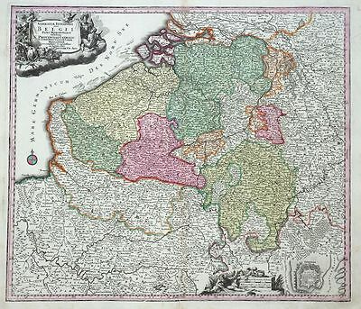 Germaniae Inferioris Sive Belgii Provincias Catholic Belgien Karte Seutter 1720