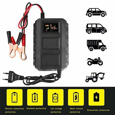 Car Battery Lead Acid Charger Automobile Motorcycle 12V 20A Intelligent LCD