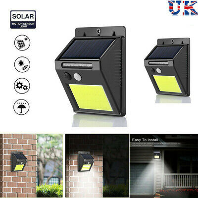 48LED Solar Powered PIR Motion Sensor Wall Security Light Garden Outdoor Lamp