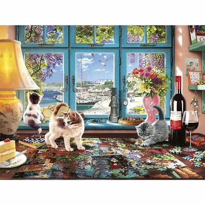 Puzzle Cat DIY 5D Full Diamond Painting Embroidery Cross Stitch Kit Home Decor