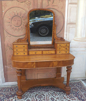 Victorian 1870 - 1900 Console toilet dressin table satinwood