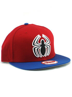 the latest a7bff e4657 New Era Spider-Man 9fifty A-Frame Snapback Hat Adjustable Marvel Comics Red  NWT