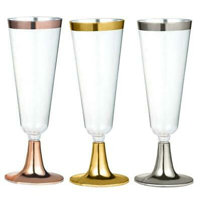 6pcs Disposable Plastic Red Wine Glass Champagne Cocktail Drink Cuisine Cup