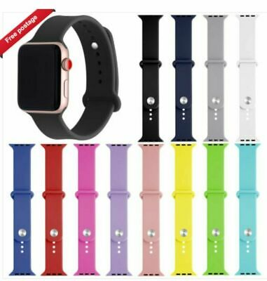 Replacement Silicone Sport Band Strap For Apple Watch Series 3/2/1 38mm/42mm