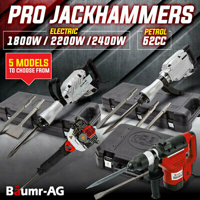 Baumr-AG Jack Hammer Various Drill Cordless Rotary Petrol Demolition Electric