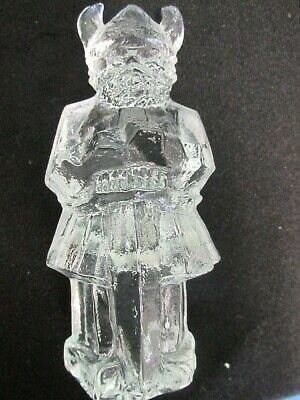 Vintage Art Glass Pukeberg Swedish Glass Viking Paperweight