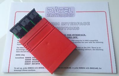 The New - Commodore 64/128 Datel MIDI Interface Cartridge with instructions