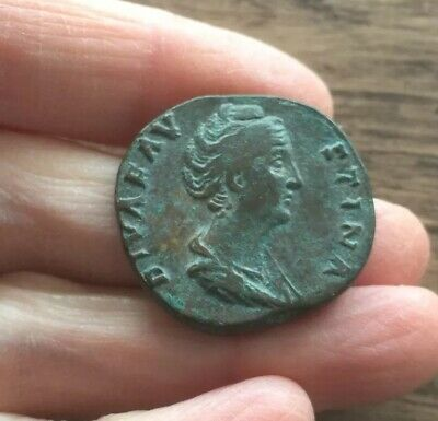 Roman. Faustina Senior (Wife Of Antoninus Pius). Brass Sestertius.