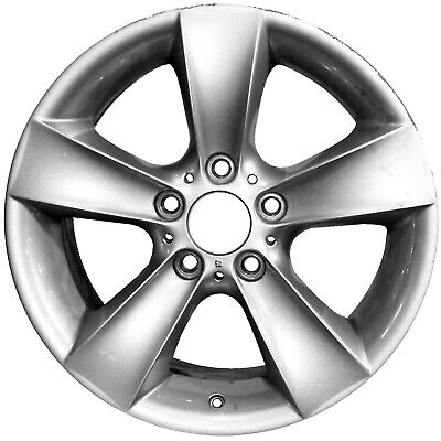 59514 Reconditioned 17x8 Alloy Wheel Rim Silver Full Face Painted