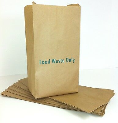 Caddy Bags for Food Waste | 7/8L | x 50 Paper Caddy Liners | Caddy Bin Bags