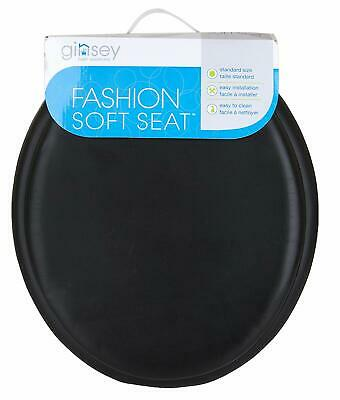 Superb Ginsey Standard Soft Toilet Seat With Plastic Hinges Black Gmtry Best Dining Table And Chair Ideas Images Gmtryco