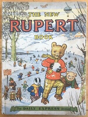 RUPERT ORIGINAL ANNUAL 1951 Inscribed in pencil Not Price Clipped VG Example