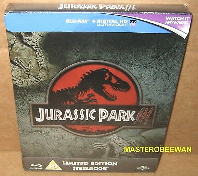 Jurassic Park III Limited Edition Steelbook New Sealed (UK Region 2, B)