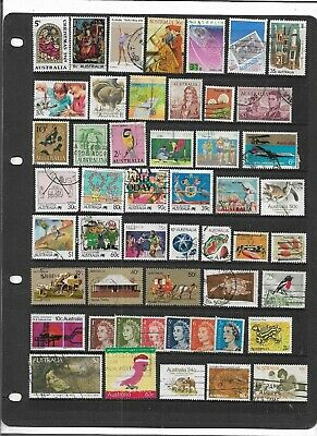 Australia Qe2 Decimal Stamps Colourful Used Collection
