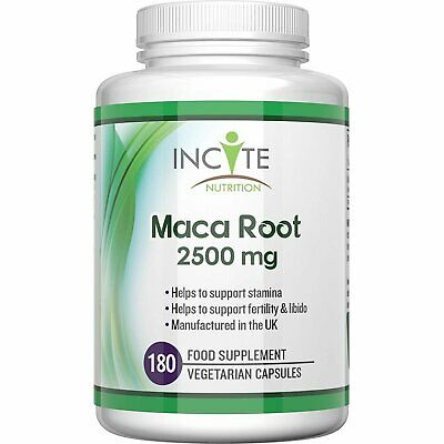 Maca root capsules 2500mg, 180 Capsules (6 Month Supply) vegetarian capsules...