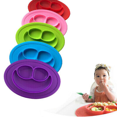 Silicone Baby Snack Mat Toddler Placemat Kids Happy Mat Suction Table Food Tray