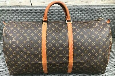 79687632a9b5a Louis Vuitton Bag Keepall 60 Made in France reise Tasche Vintage Monogram  Canvas