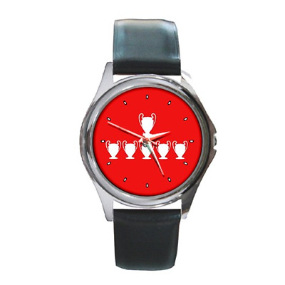 6 Six Times European Champions Liverpool Round Wristwatch *Superb Gift Item* A1