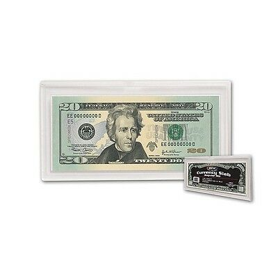 Bcw Deluxe Currency Slab Dollar Bill Case Current Size Regular Holder Bank Note