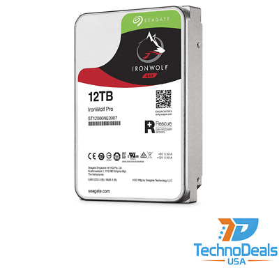 Seagate ST12000NE0007 IronWolf Pro 12TB Hard Drive 7200RPM 3.5in HDD