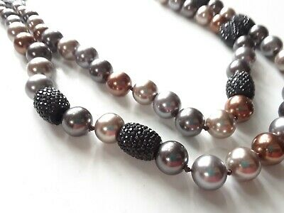 Bar III Necklace Hematite Tone New Over Stock With Tags N80799HEM