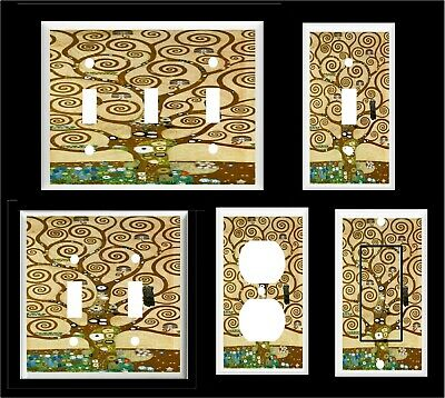 KLIMT TREE of LIFE  LIGHT SWITCH COVER PLATE  OR OUTLET HOME DECOR