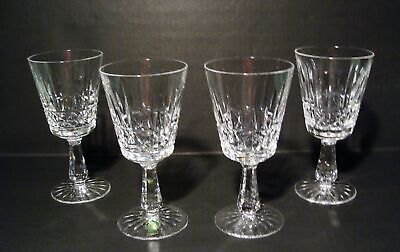 Waterford Crystal Kylemore Set Of 4 Water Goblets Ireland 1 Has Label***wow!!