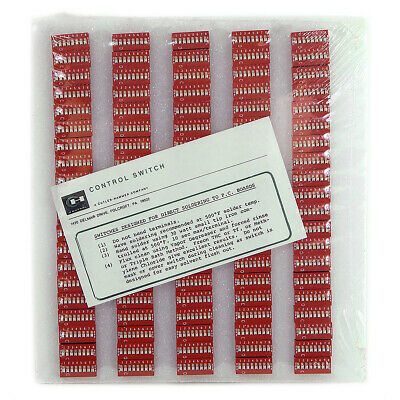 NEW Cutler Hammer SE2AV591-8 Lot Of 100 Red Dip Switch 8-Position 2.54MM Pitch