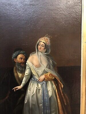 Antique 19th C Oil On Canvas Or Panel Painting Of Ottoman Signed By Guet 1896