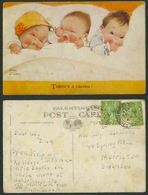 MABEL LUCIE ATTWELL 1932 Old Postcard Three's A Crowd! View of Married Life 2127
