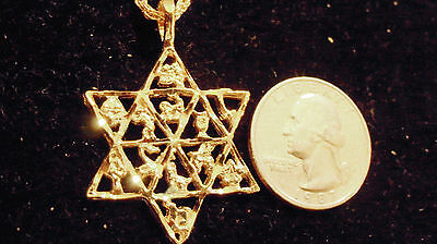 bling gold plated 6 point star MYTH pendant charm chain necklace FASHION JEWELRY