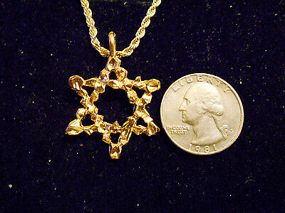 bling gold plated 6 point star myth witch wizard pendant charm necklace jewelry