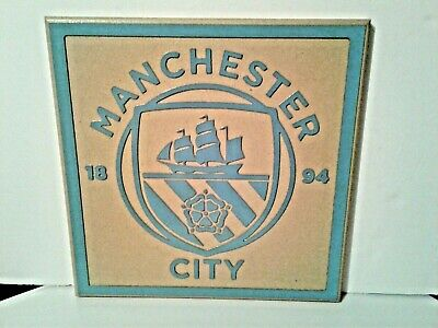 MANCHESTER CITY FOOTBALL  CLUB PLAQUE/SHIELD HAND CRAFTED one off unique item