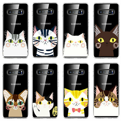 Soft Thin TPU Back Cover Case For Samsung Galaxy S8 S9 S10e Plus Cats Print