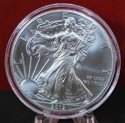 2012 American Silver Eagle BU 1 oz Coin US $1 Dollar Mint Uncirculated Brilliant