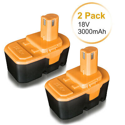 2PACK 18V NiMH Battery for Ryobi One Plus P100 P101 ABP1803 ABP1801 18 Volt Tool