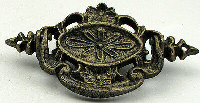 SET OF 6 Reproduction Ornate Drawer Handle PULL    Cast Iron  Rustic Brown