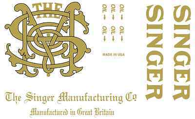 Singer Model 31 Class Sewing Machine Restoration Decals 40819